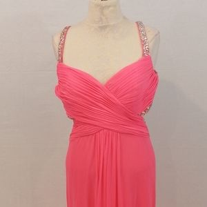 Rhinestone Prom Party Cocktail Dress Hot Pink 12
